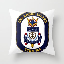 USS RHODE ISLAND (SSBN-740) PATCH Throw Pillow