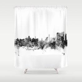 Calcutta (Kolkata) India Skyline Shower Curtain