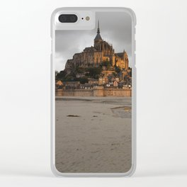 Golden Hour at Le Mont Saint-Michel Clear iPhone Case