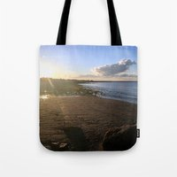 cape cod Tote Bags featuring Cape Cod  by Plush Deesigns