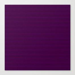 Mini Zombie Purple and Black Horizontal Witch Pin Stripes Canvas Print