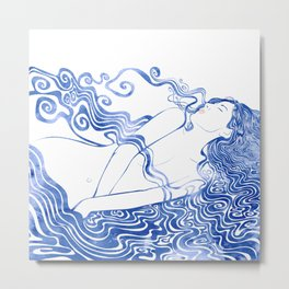 Water Nymph LXVII Metal Print