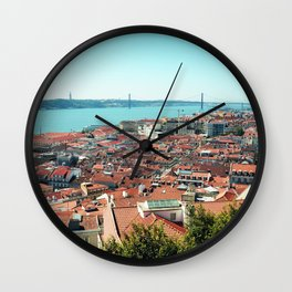 Lisbon, Portugal Analog 6x6 Kodak Ektar 100 (RR 163) Wall Clock