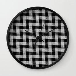 Linen  Bison Plaid Wall Clock