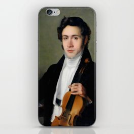 Portait of young Niccolò Paganini iPhone Skin