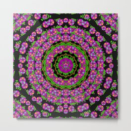 flowers and more floral dancing a power peace dance Metal Print