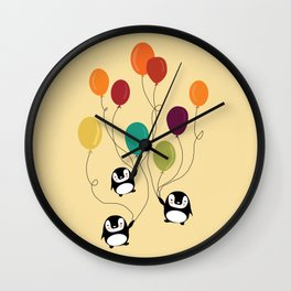 Pinguins Wall Clock