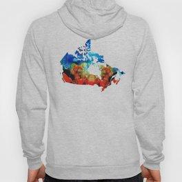 Canada - Canadian Map By Sharon Cummings Hoody
