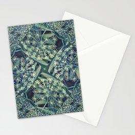 Green Plant Corner Stationery Cards