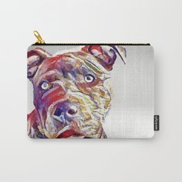 pit bull lovers- a unique oil painting of a beautiful gentle red nose pit bull Carry-All Pouch
