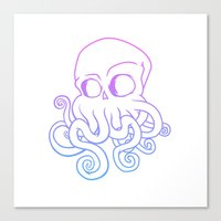 cthulu Canvas Prints featuring Call me Cthulu  by KickPunch