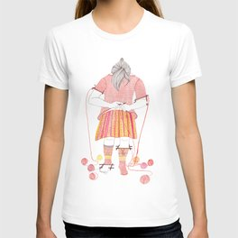 Knitster Girl Sweater & Socks T-shirt