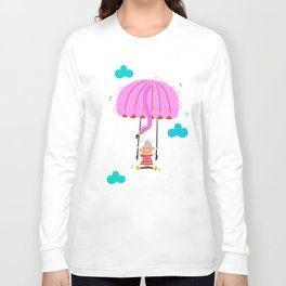 one of the many uses of a flamingo - parachute Long Sleeve T-shirt