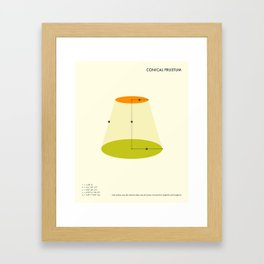 Conical Frustum Framed Art Print