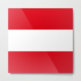 Flag: Austria Metal Print