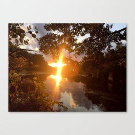 Mystic River Mindfulness Canvas Print