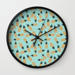 Blue Pineapple Shake Wall Clock