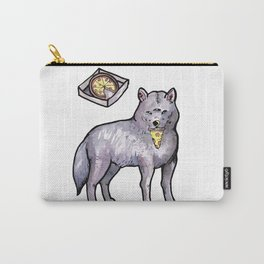 wolf eating a pizza Carry-All Pouch