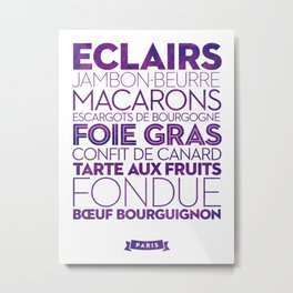 Paris — Delicious City Prints Metal Print