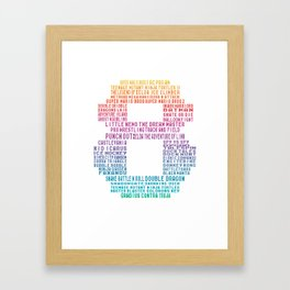 8 bit childhood memories! Framed Art Print
