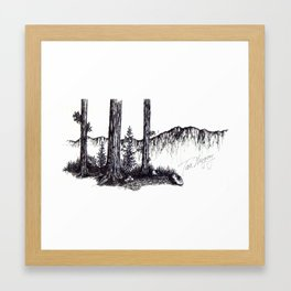 Ink Pen Framed Art Print