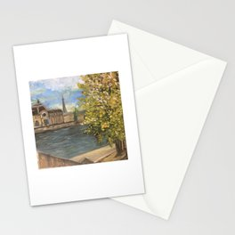 Seine River in Paris Stationery Cards