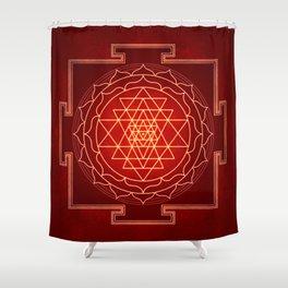 Sri Yantra X Shower Curtain