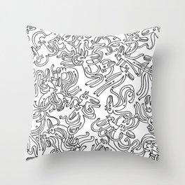 Garbled Throw Pillow