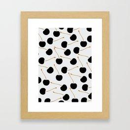 Black Cherries Framed Art Print