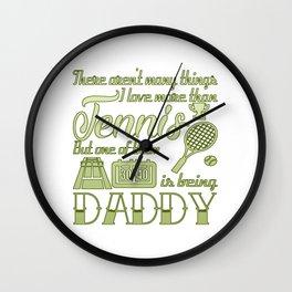 Tennis Daddy Wall Clock