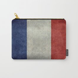 French Flag with vintage textures Carry-All Pouch