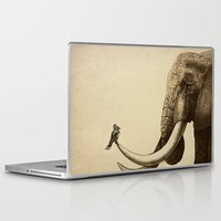 old Laptop & iPad Skins featuring Old Friend by Eric Fan