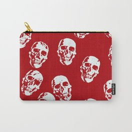 Hot Skulls, red white Carry-All Pouch