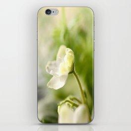 White Blossom Flower Green Leaves #decor #society6 iPhone Skin