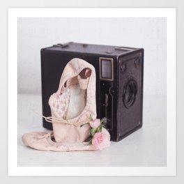 Ballet Photograph, Ballerina Art, Still Life, Home Decor, Girls Room, Still Life, Vintage Camera Art Print