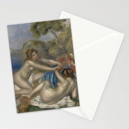 Bathers Playing with a Crab Stationery Cards