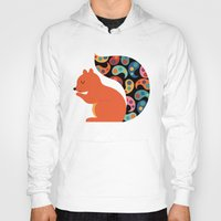 paisley Hoodies featuring Paisley Squirrel by Andy Westface