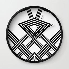Black and White Diamond Wall Clock