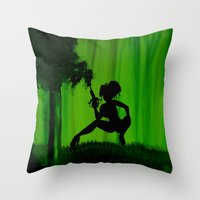 astrology Throw Pillows featuring The Astrology  sign Sagittarius by Krista May