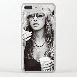 Stevie Nicks Graphic Hippie Clear iPhone Case