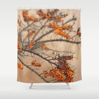 robin Shower Curtains featuring Robin by Ruurd Jelle van der Leij Highkeyart