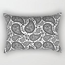 Paisley (Black & White Pattern) Rectangular Pillow