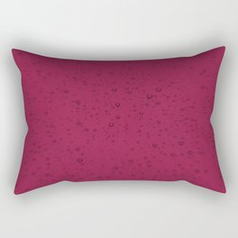 Red Beaujolais Champagne Bubbles Sparkling Wine Rectangular Pillow