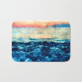 Sea And Sunset Bath Mat