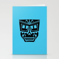 tiki Stationery Cards featuring Tiki by Nick Salmon