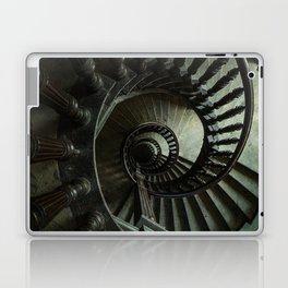 Brown wooden spiral staircase Laptop & iPad Skin