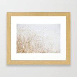 Gold Glitter Detail Framed Art Print