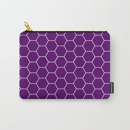 Purple honeycomb geometric pattern Carry-All Pouch