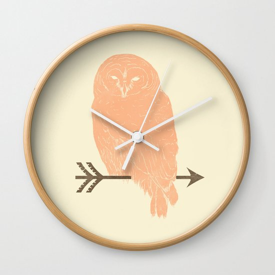 Owl and Arrow Wall Clock