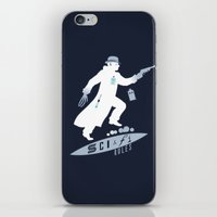 sci fi iPhone & iPod Skins featuring SCI-FI Rules by Barn Bocock